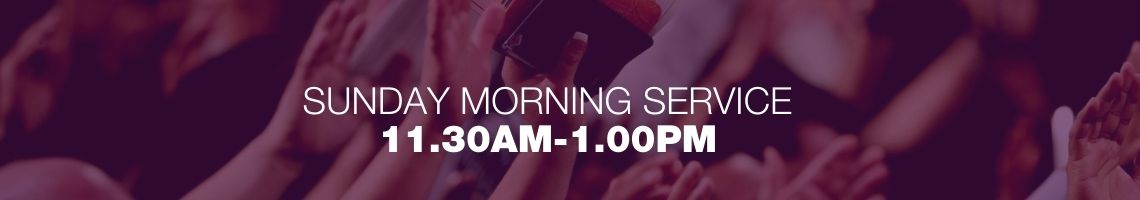 Sunday morning service 11.30am-1pm